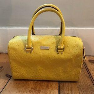 Kate Spade Ostrich Embossed Handbag- like new!